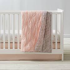 modern chic crib bedding pink the land of nod