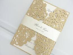 laser cut invitations laser cut roses wedding invitation