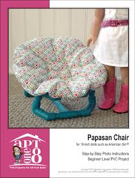 Papasan Cushion Cover Pattern by Papasan Chair Pvc Pattern 18 Inch Doll Patterns Furniture