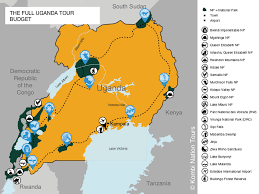 Map Of Uganda Africa by The Full Uganda Safari