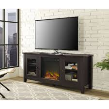 wood tv stand with fireplace for tvs up to 60