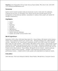 professional quality control analyst templates to showcase your