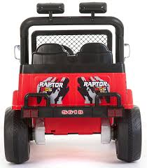 kids red jeep kids 2 seater 12v electric battery ride on car wrangler style
