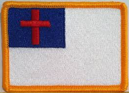 Christian Flag Images Amazon Com Christian Flag Velcro Patch Mc Biker Military Tactical