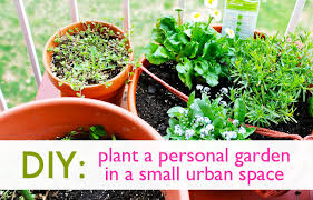 Potted Herb Garden Ideas Diy How To Plant A Personal Garden In A Small Space