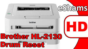brother printer drum light brother hl 2130 drum reset youtube