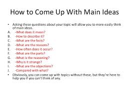 how to ideas chapter 9 selecting and arranging main ideas