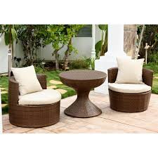 Used Wicker Patio Furniture Sets - coral coast laynee all weather wicker 3 piece patio swivel chairs