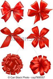 big present bow big set of gift bows with ribbons vector vectors