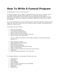 funeral ceremony program how to write a funeral program it resume cover letter sle