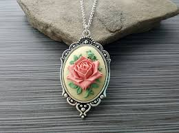 victorian cameo necklace images Handmade victorian rose cameo necklace urban metal designs jpg
