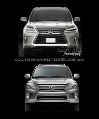 lexus models 2015 2016 lexus lx570 vs 2014 lexus lx570 front old vs new indian