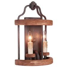 Lantern Wall Sconce Wood Half Lantern Wall Sconce Shades Of Light
