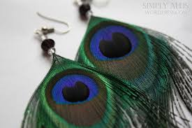 how to make feather earrings peacock feather earrings diy simply allis