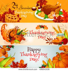 thanksgiving day greeting card banner template stock vector