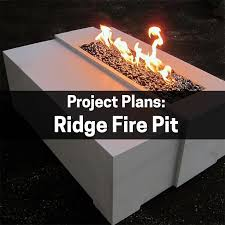 Concrete Fire Pit by Fire Pit Plans U2013 Ridge Concrete Countertop Institute