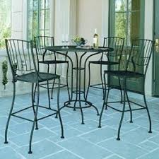 Wrought Iron Bistro Table And Chairs Wrought Iron Bar Height Table Foter