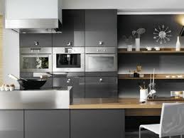 cuisine gris et blanc photo cuisine grise et bois