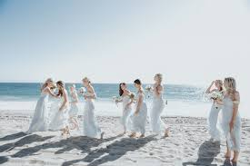 malibu bridesmaid dresses relaxed wedding in malibu photographed by smith co