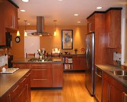 G Shaped Kitchen Designs Kitchen Cozy And Natural Bamboo Floor In Kitchen Designs
