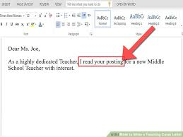 cover letter for teacher teaching assistant cover letter example