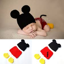 Crochet Baby Halloween Costume Aliexpress Buy Crochet Baby Boy Mickey Costume Knitted