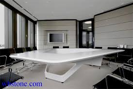 Large Conference Table White Polygon Large Conference Table Custom Design