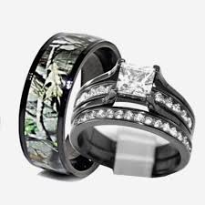 camo wedding rings his and hers camo promise rings for him lovely camo wedding rings