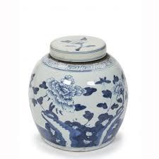 white ginger jar l chinese ginger jar blue white ceramic orchid