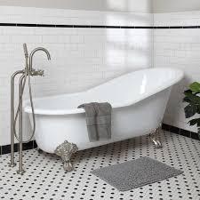 bed u0026 bath modern bathroom with floor mounted tub filler and