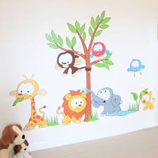 jungle cute wall decals cute wall decals for nursery room