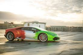 wrapped lamborghini lamborghini huracan wrapped in tricolor flames by print tech