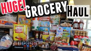grocery haul buying in bulk large family