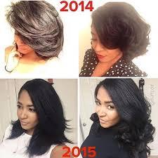 how to trim relaxed hair voice of hair hairspiration one year of growth on fluffcoi
