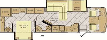 Fleetwood 5th Wheel Floor Plans Storm Motor Home Class A Rv Sales 4 Floorplans