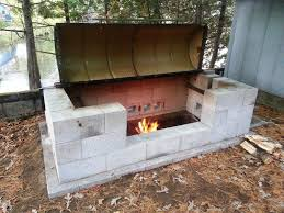 Building Outdoor Fireplace With Cinder Blocks by Large Rotisserie Pit Bbq Pit Bbq Oil Drum Bbq And Oil Drum