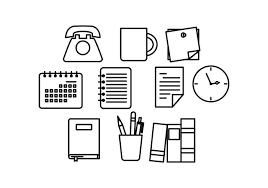 icones bureau gratuits vecteur d 39 icône de ligne de bureau gratuit téléchargez de l