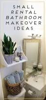 Ideas For Decorating A Small Bathroom by 25 Best Rental Bathroom Ideas On Pinterest Small Rental
