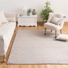 teppich 300 x 400 kurzflorteppich soft aus wolle 250 x 350 cm beige maisons du monde