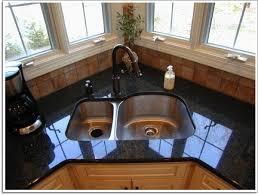 Graceful Corner Undermount Kitchen Sinks Double Basin Square Sink - Corner undermount kitchen sink