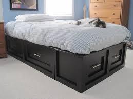 Stratton Storage Platform Bed With by Queen Size Storage Bed Frame Plans U2014 Modern Storage Twin Bed Design