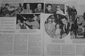 1938 Hollywood U0027s Unmarried Husbands And Wives U2013 Dear Mr Gable