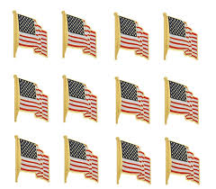 American Flag How Many Stripes Amazon Com American Flag Necktie Clip And Lapel Pin The Stars