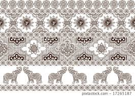 seamless pattern with indian ornaments stock illustration