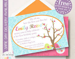 birds invitation birds birthday invitation birds first year