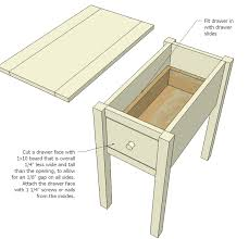 Free Small Wooden Table Plans by Ana White Narrow Cottage End Tables Diy Projects