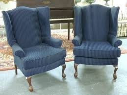 Blue Wingback Chair Design Ideas Blue Wing Chair Chair Design Ideas Blue Chair Blue Stripe Pattern