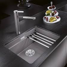 evier cuisine design évier etagon 500 if inox brossé blanco espace aubade
