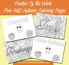free fall autumn coloring pages educational printables