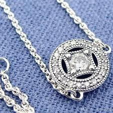 charm necklace vintage images High quality 925 sterling silver vintage allure pendant necklace jpg